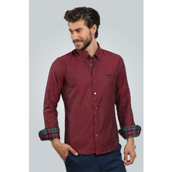 Men's Burgundy Shirt - 01POP01001-231