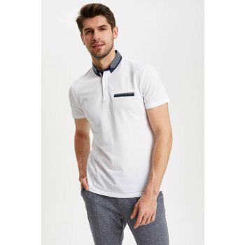 Men's White Slim Fit Polo T-shirt K3767AZ.19SM.WT34
