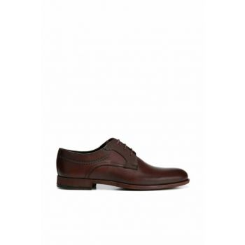 Genuine Leather Brown Men Shoes 02AYH138360A480
