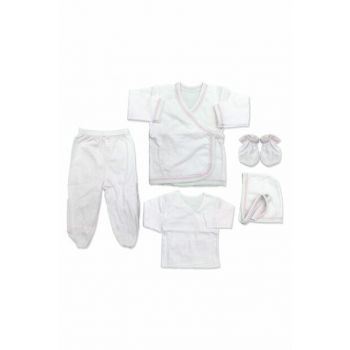 Pink Shaped Plain Baby 5 Li Hospital Outlet Set K2275