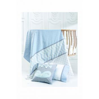 Fox Baby Linen Set Blue 357078-00009_R035