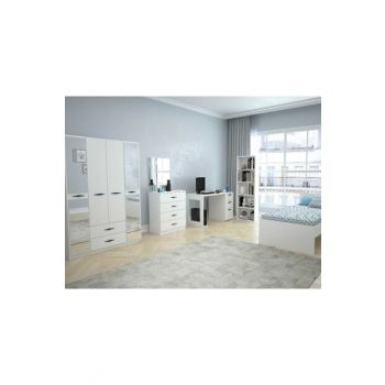 Texas Mirrored 4 Doors 2 Drawers Young Room (Bright White) 123TEKSAS008