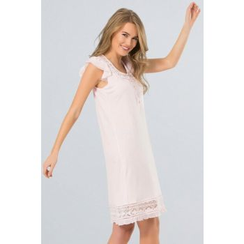 Women's Pink Nightgown 65% Viscose 35% Polyester 3131