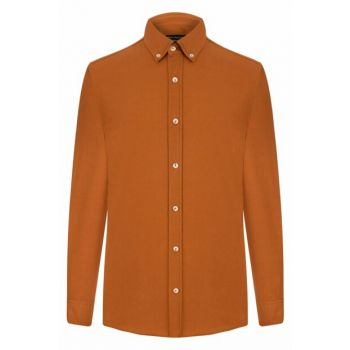 Men's Tobacco Slim Shirt 328267