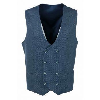 Men's Navy Blue Vest Double Breasted 19-0110 2320C0910110