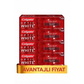 Optical White Extra Power Whitening Toothpaste 75ml x 4Pcs PKTCLGOPEG75X4