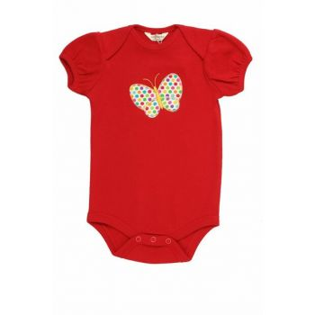 Fun Girl Butterfly Red Baby Body 6-9 Months 10031005Ş