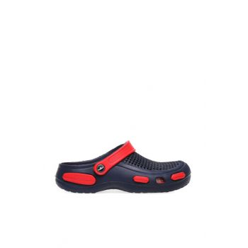 Navy Blue Men's Slippers E087M000