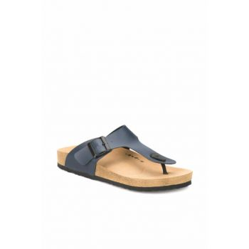 Navy Blue Men's Slippers MEROL