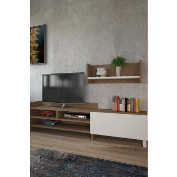 Pyrus Tv Stand Walnut + White 030 0100 823 043 43