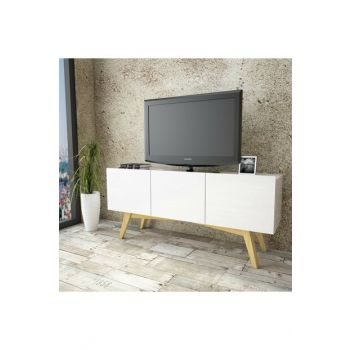 WN20 Solid Tv Unit 3 Clamshell Pine Skeleton 2 Color TY-1073835