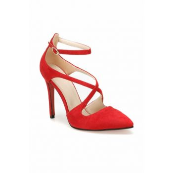 Red Women's Heels Shoes 000000000100443386