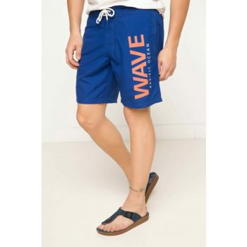 Men's Blue Printed Swimming Shorts G7327AZ.17HS.BE181