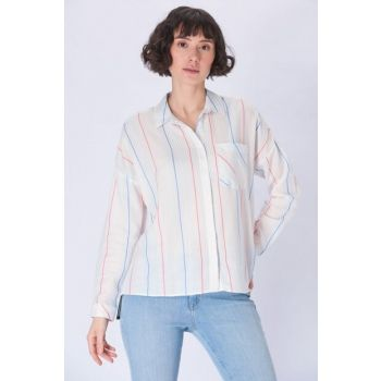 Women's Colorful Striped Shirt 122184-28804