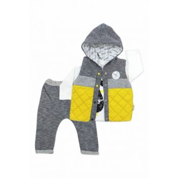 Yellow Inflatable Vest Hooded 3 Leu Baby Suit K2757