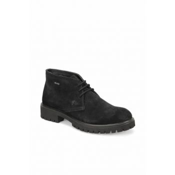 Genuine Leather Black Men's Boots 000000000100277780
