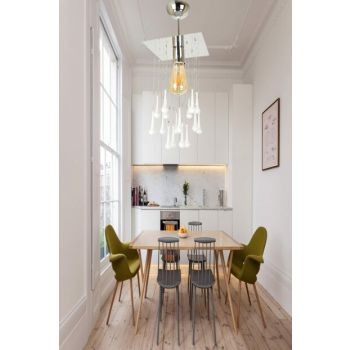 Pınar 20X20 Normal Dropped White Chandelier 901 0115 27 027