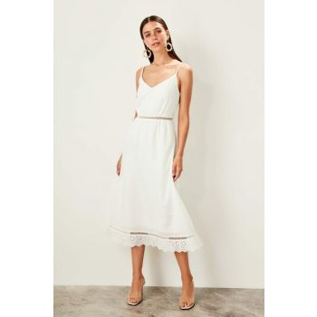 White Halter Dress TWOSS19XO0102