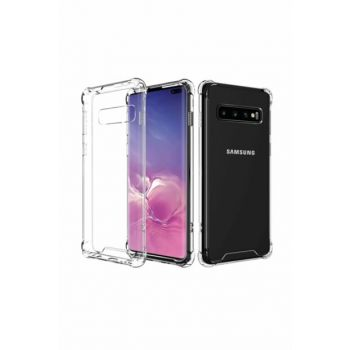Ultra Thin Transparent Airbag Anti Shock Silicone Case for Samsung Galaxy S10 Plus - Transparent
