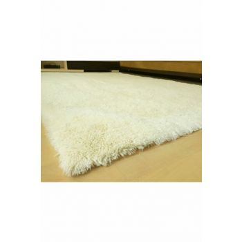160x230 Rabbit Feather Decorative Post Carpet Cream TBT160230