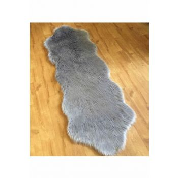 70x200 Acrylic Sheepskin Lamb Double Gray PT070200
