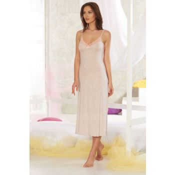 Women's Mink Ruched Long Nightgown 10689