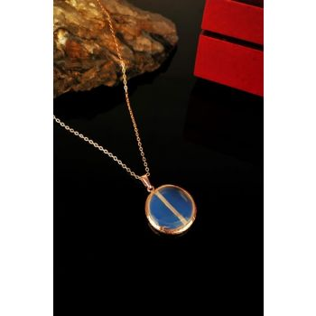 Women's Moonstone Rose Gold Plated Necklace KRB319