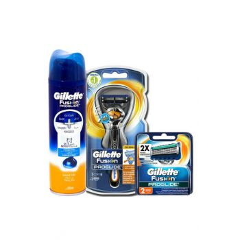 Fusion Proglide FlexBall 1up Shaver + 2 Replacement + Gel 98498498121