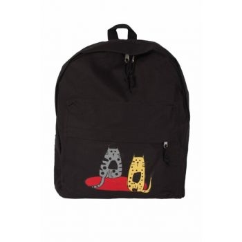 Cats Black Midi Backpack BGD11146021099