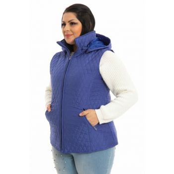 Women's Sax Hooded Quilted Vest P5264