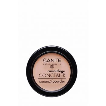 Organic Concealer Cream / Powder - 02 Sand Color - 3,4 g 43265