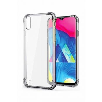 Samsung Galaxy M10 Ultra Thin Transparent Airbag Anti Shock Silicone Case - Transparent M10 TRANSPARENT
