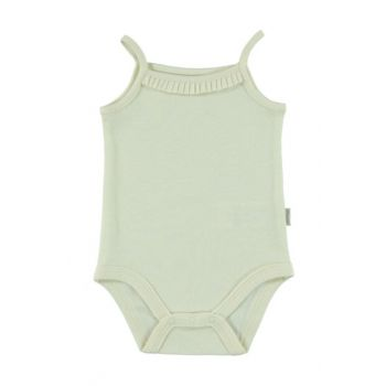 Ecru Baby Girl Body with Snaps 140055089SS1