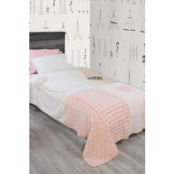 Single Cotton Blanket Rita Pink DBT-051.20188.004