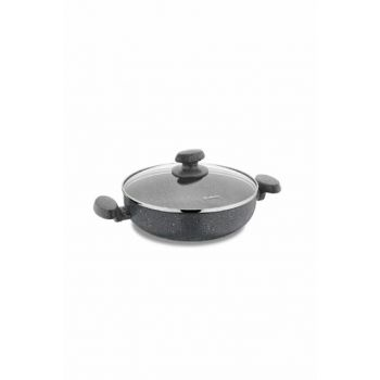 A2811 Korkmaz Mia Granite 30cm Short Cookware