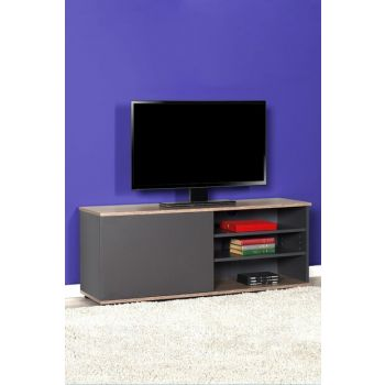 Flat Line Plus Three Compartment Tv Table with Lid - Latte / Anthracite TVC-510-LA-1