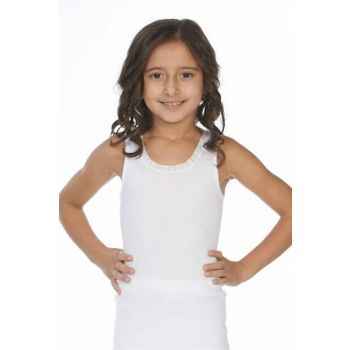 Girl White White 3-Piece Tank Top 7006N