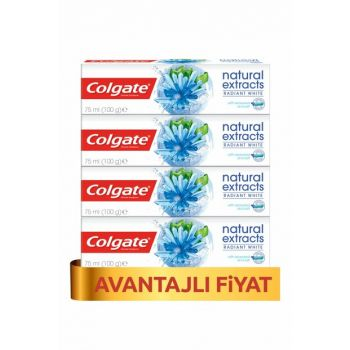 Natural Extracts Seaweed Salt Whitening Toothpaste 75ml x 4Pcs PKTCLGTNTRLXTRDNZYSNX4