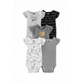 Gray Layette Baby Girl 5 Pieces Body 16640710