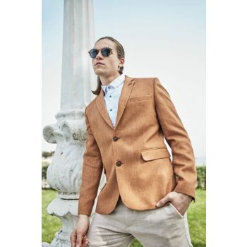 Cinnamon Mens Slim Fit Smart Jacket TMNSS19PP0005
