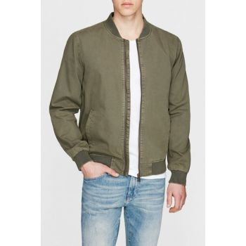Men's Green Detailed Jacket 010038-28617