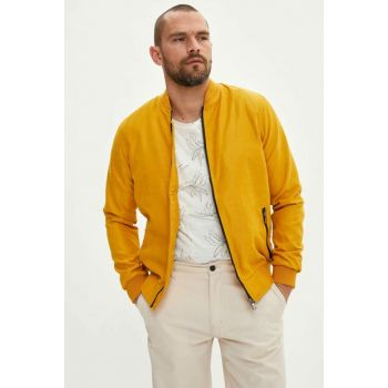 Men's Yellow Slim Fit Bomber Jacket L8724AZ.19SP.YL1