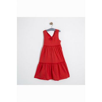 Soobe Girl Child Sleeveless Dress Red SBEKCELB11355_00-0051