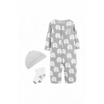 Gray Layette Baby Set Of 3 126H560