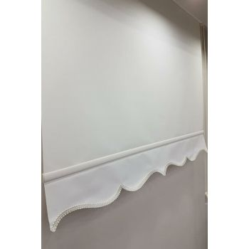 80X260 Straight Ecru Roller Blinds MS1202 8605481034938
