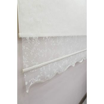 110X260 Double Mechanism Tulle Curtain and Roller Blinds MT4003 8605481001810