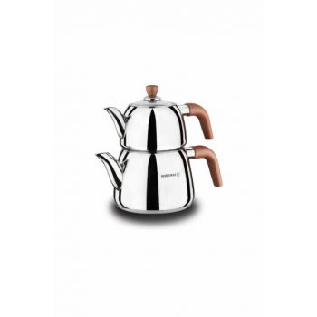 A049 Korkmaz Rosa Vita Tea Pot Set