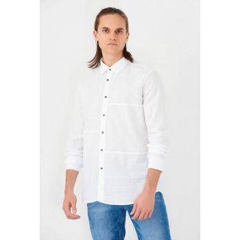 Men's White Shirt without Pockets 021245-620