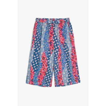 Blue Patterned Girl Trousers 9YKG47658OW