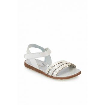 White Girls Leather Sandals 000000000100368351